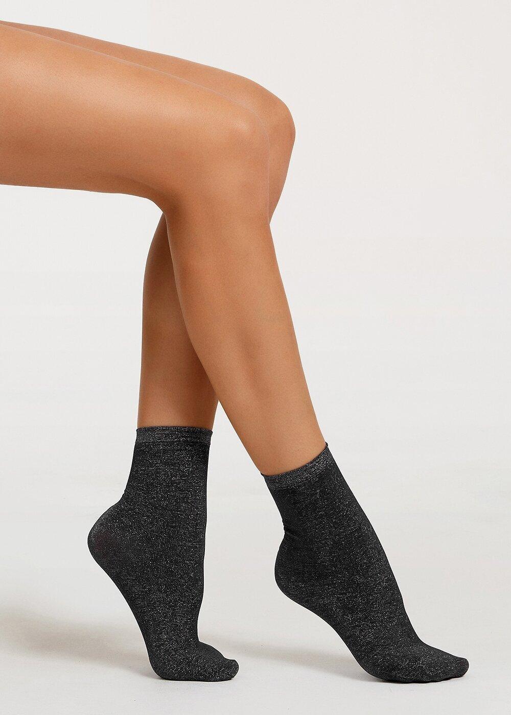 resm Shinny Soket Çorap - LACİVERT