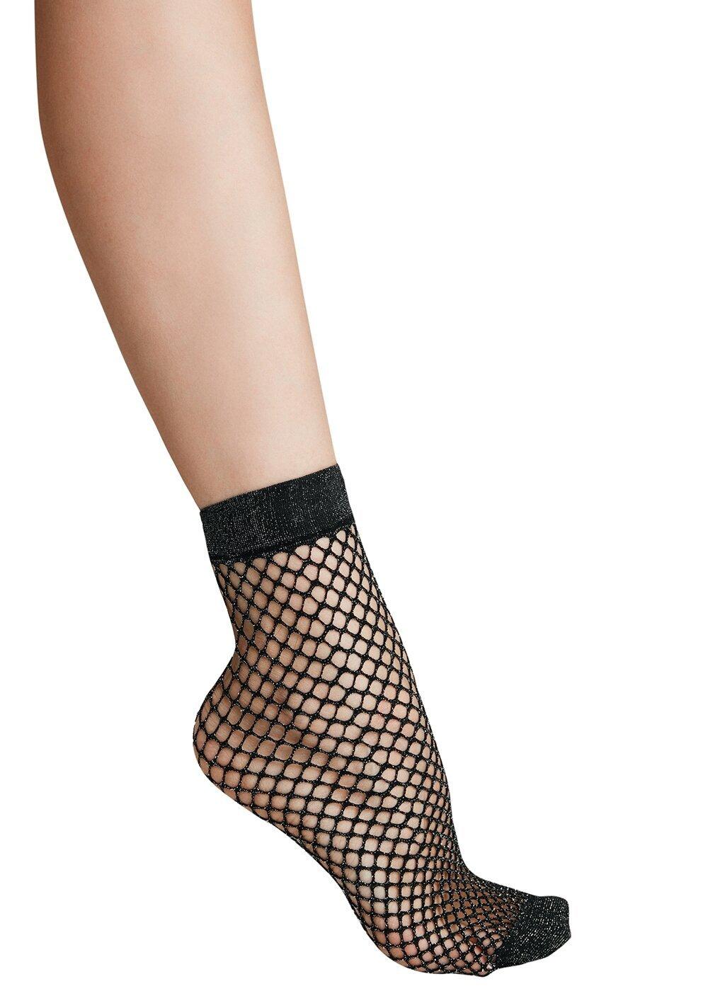 resm Lurex File Soket Çorap - SİYAH