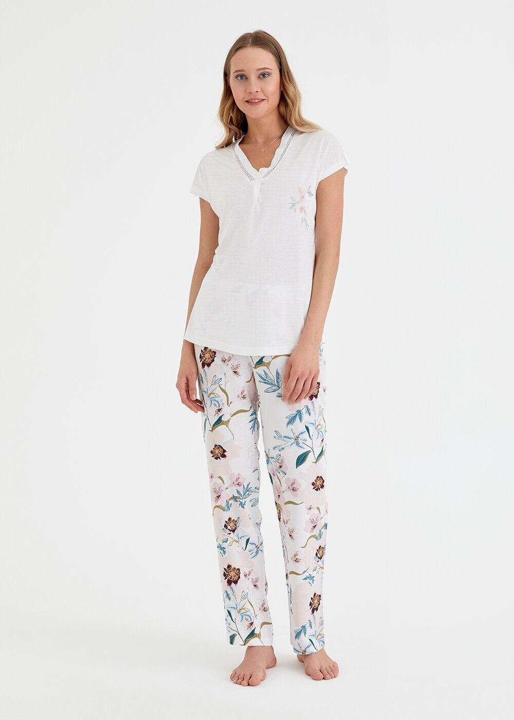 resm Iris Pijama Takımı - PEMBE BASKILI