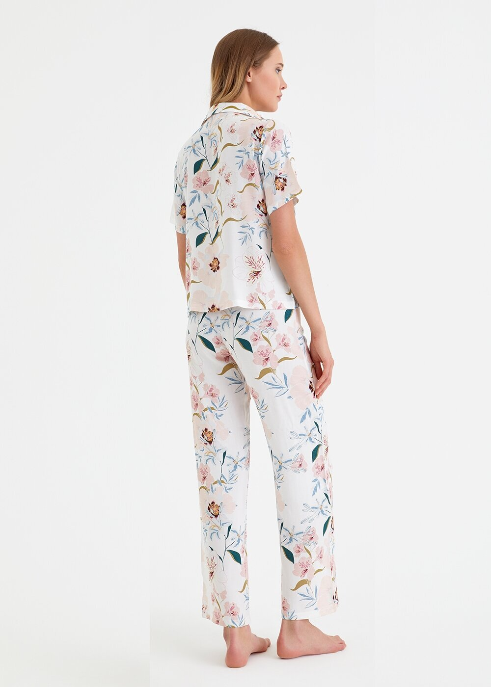resm Iris Maskulen Pijama Takımı - PEMBE BASKILI