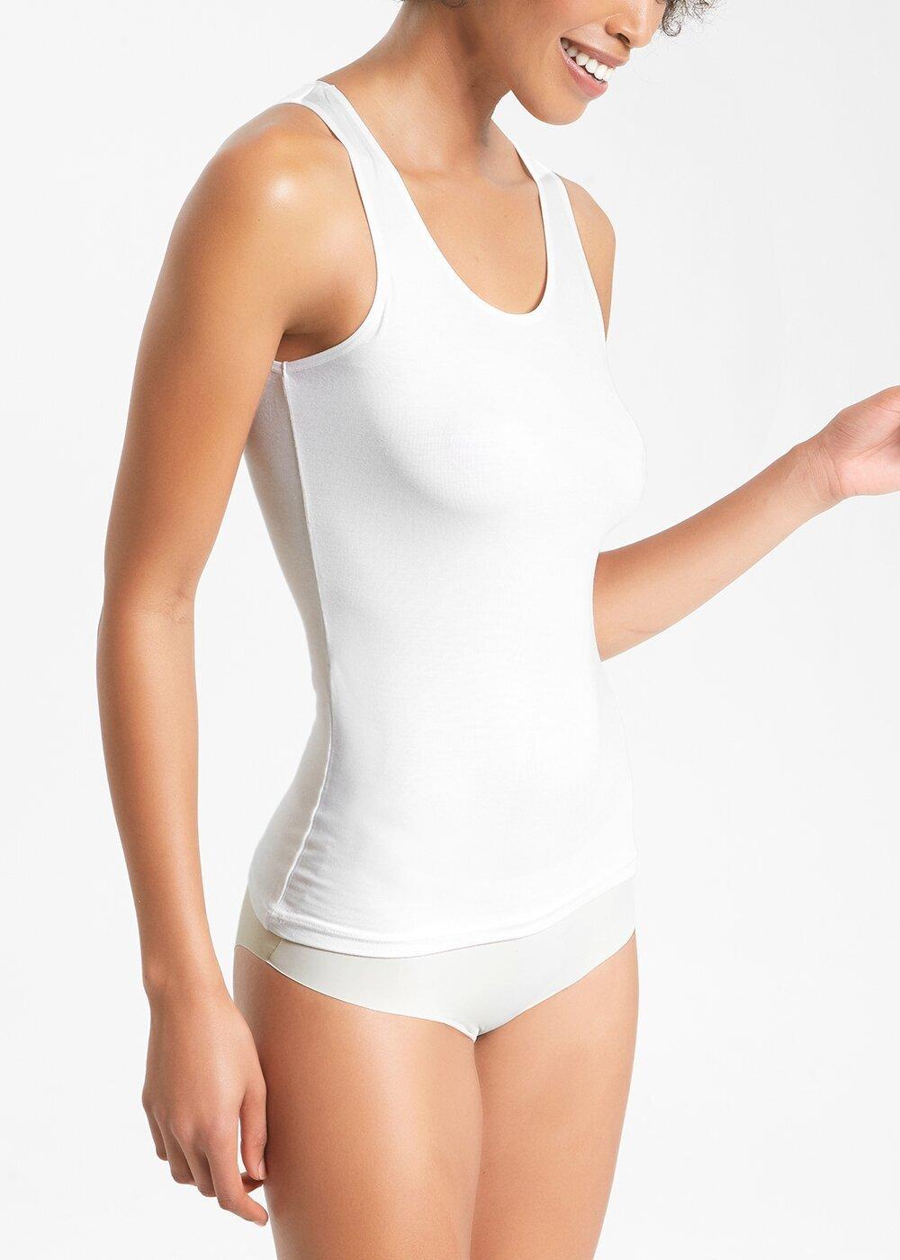 resm Soft Touch Kalın Askılı Atlet   - EKRU