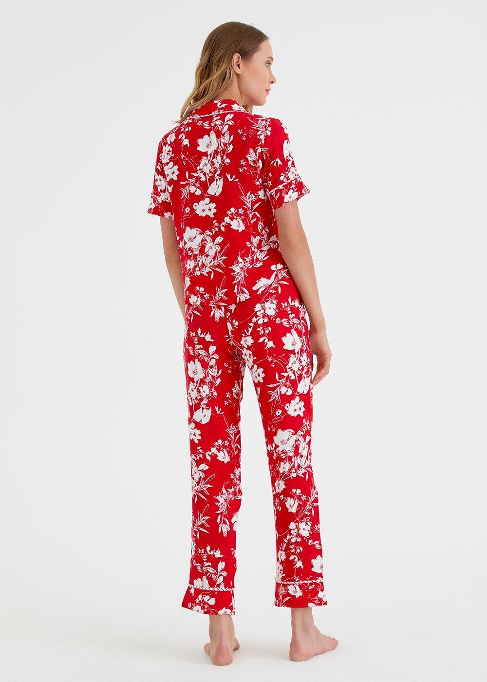 resm Red Line Maskulen Pijama Takımı - KIRMIZI BASKILI