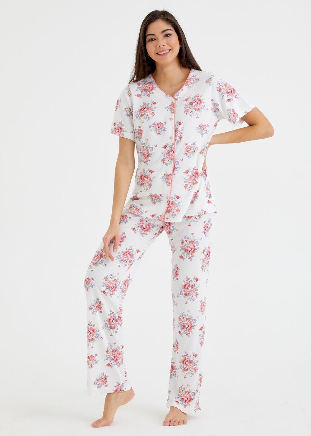 resm Elegance Maskulen Pijama Takımı - ÇİÇEK BASKILI