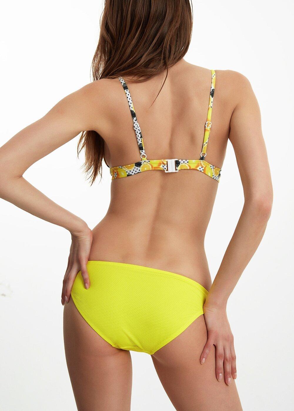 resm Düz Bikini Alt - SARI BASKILI