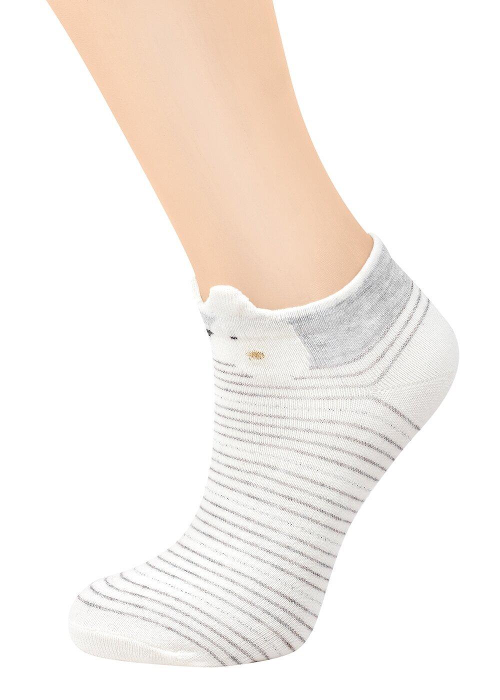 resm Teddy Patik Çorap - ÇİZGİLİ
