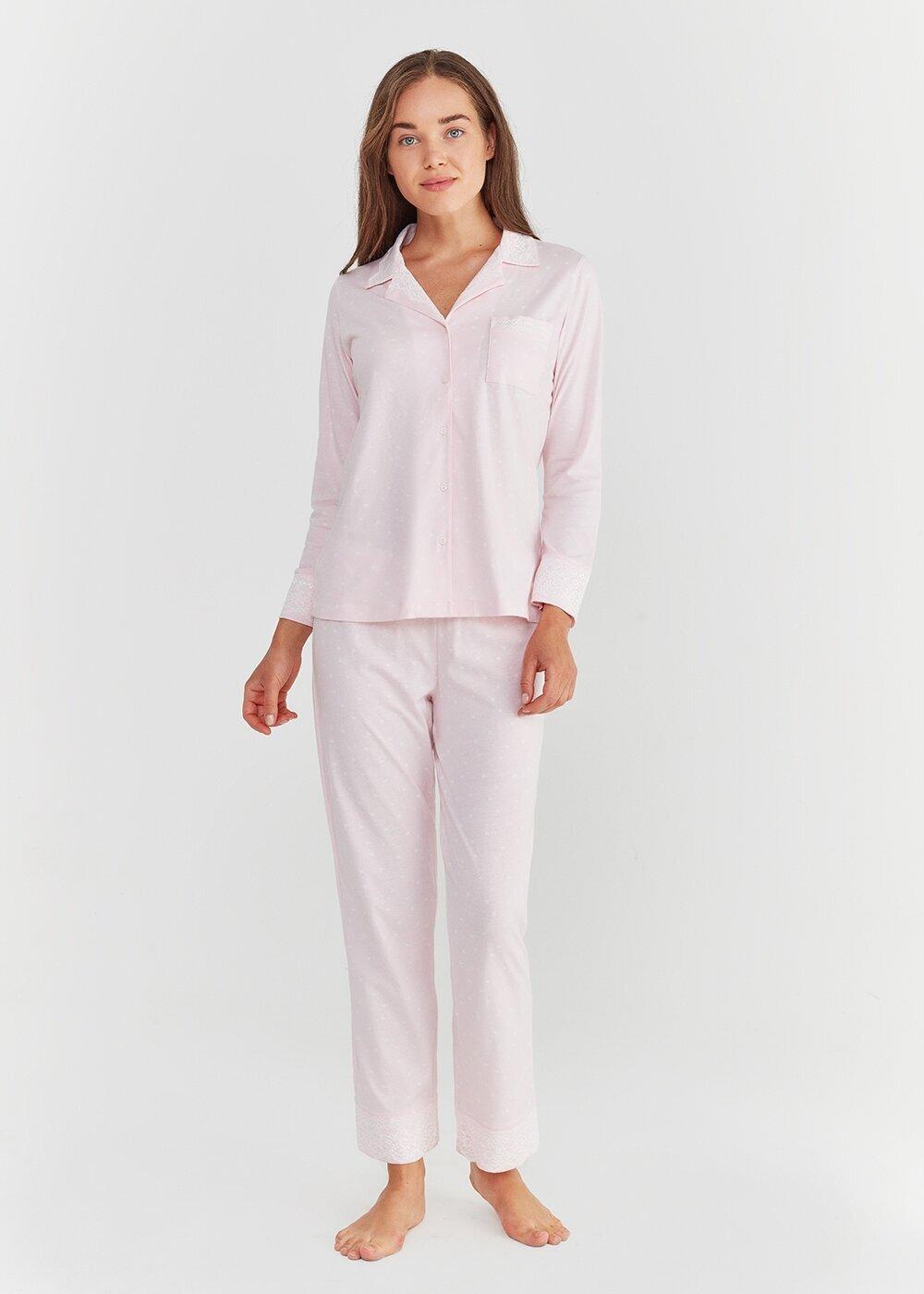 resm Lily Maskulen Pijama Takımı - PEMBE