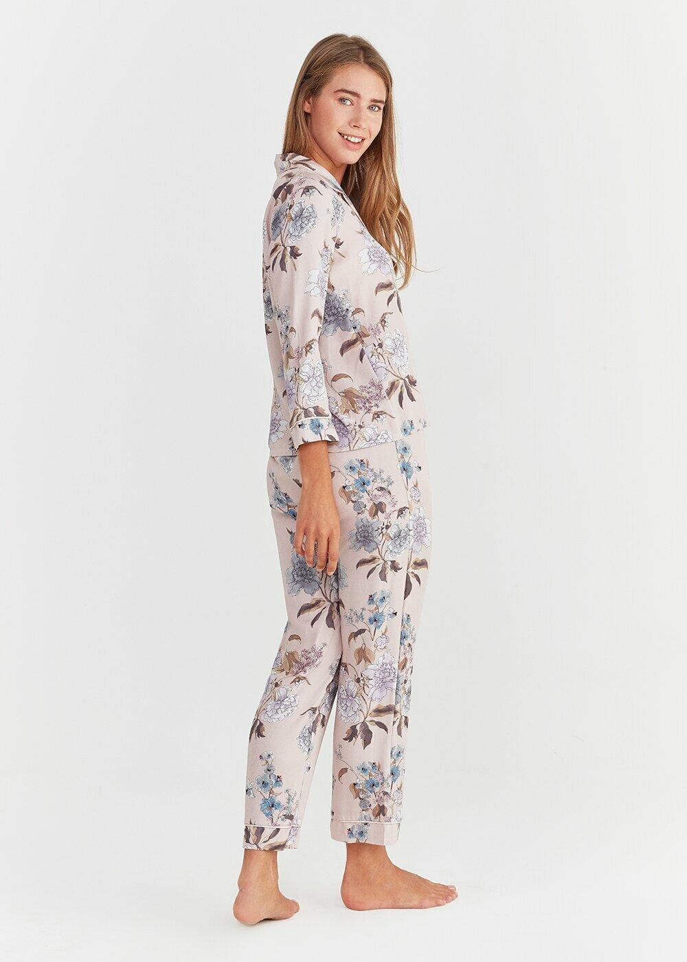 resm Lisa Maskulen Pijama Takımı - LEYLAK
