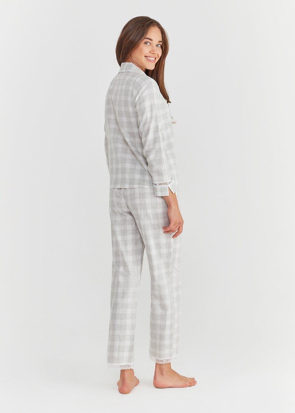 resm Sofia Maskulen Pijama Takımı - GRİ EKOSELİ