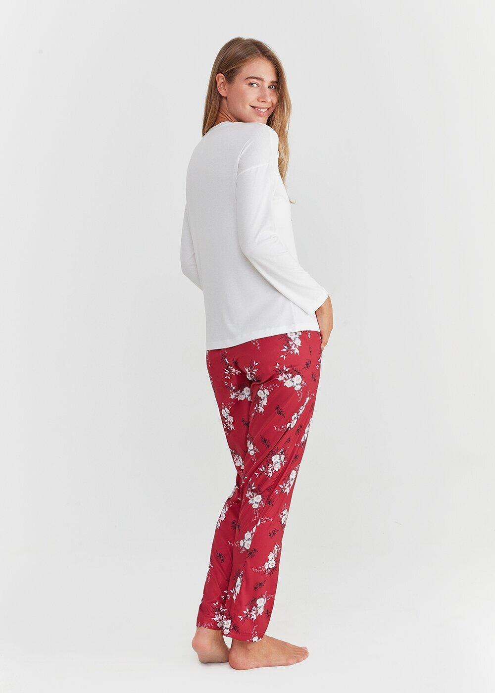 resm Elegance Pijama Takımı - BORDO