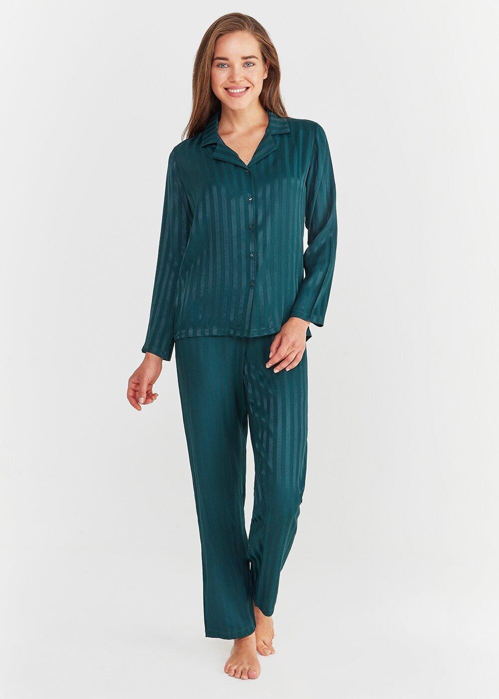 resm Diana Maskulen Pijama Takımı - YEŞİL