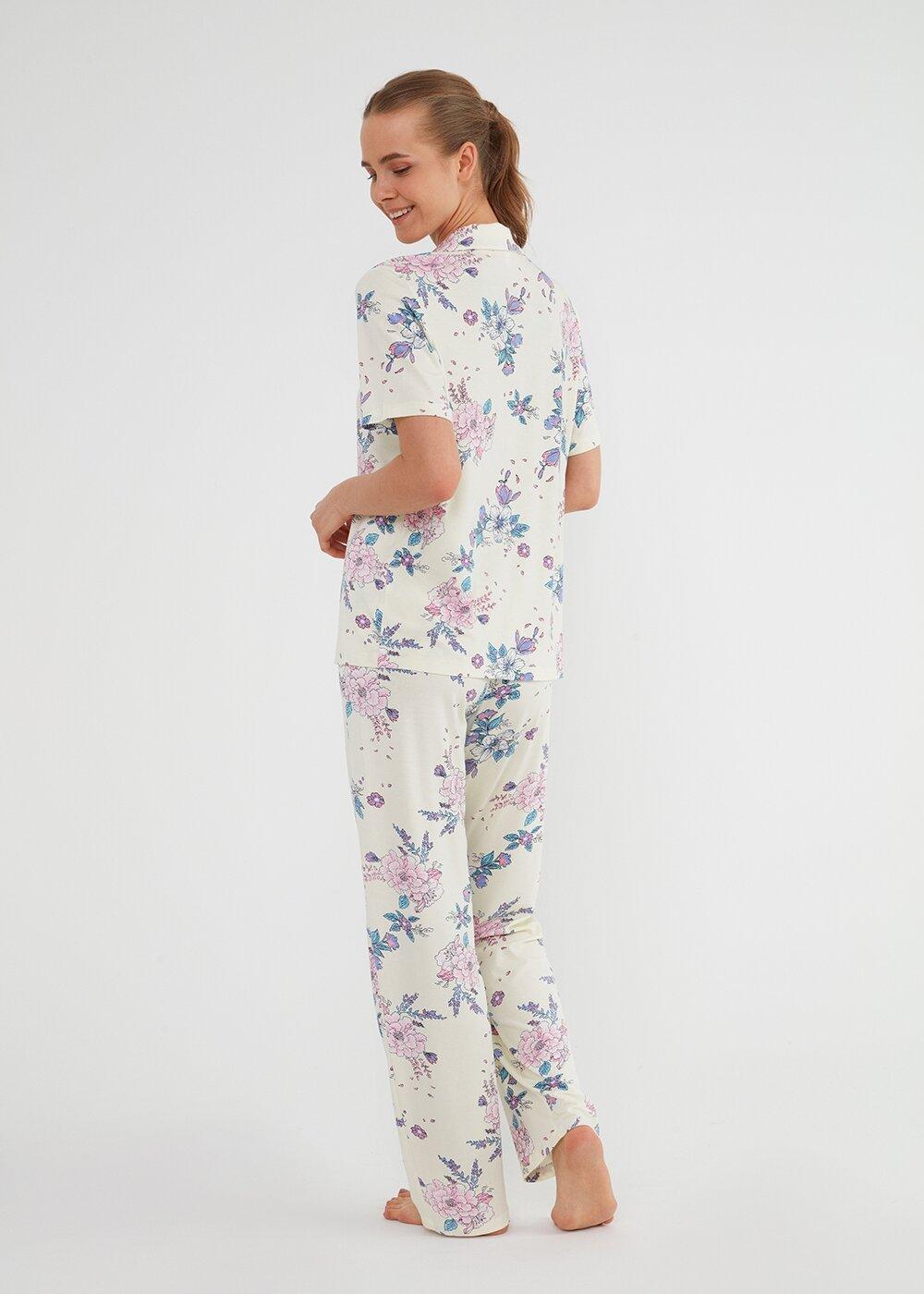 resm Sunny Maskulen Pijama Takımı - SARI DESENLİ