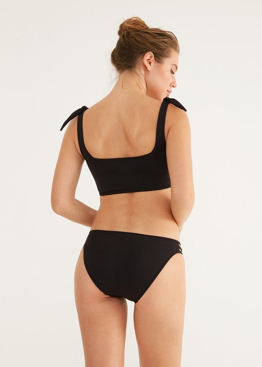 resm Üç Şeritli Bikini Alt - SİYAH