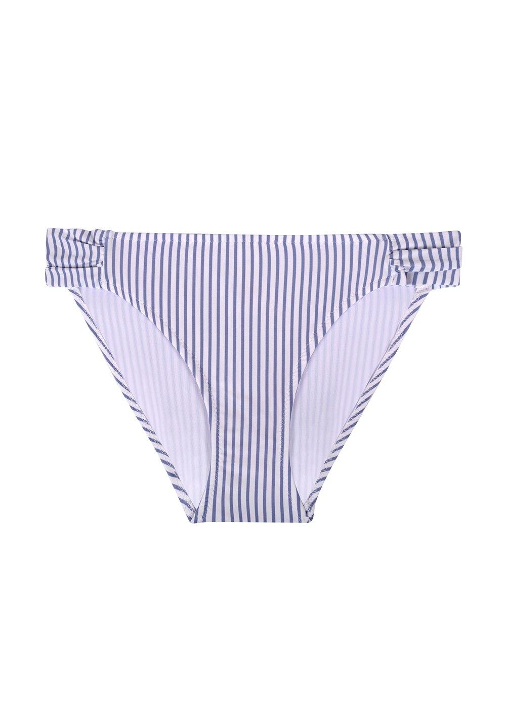 resm Yanı Pileli Bikini Alt - ÇİZGİLİ