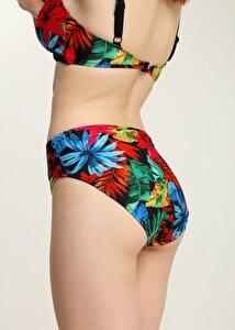 resm Luplu Toparlayıcı Bikini Üst  - RENKLİ BASKILI