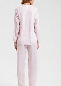 resm Lover Maskülen Pijama Takımı - PEMBE BASKILI