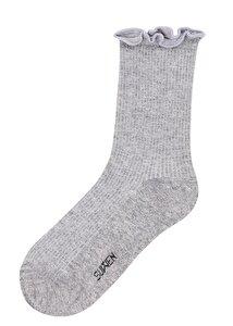 resm Fitilli Soket Çorap - GRİLİ