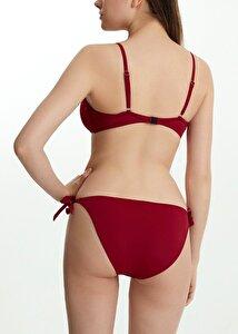 resm Kalın Bağcıklı Bikini Alt - BORDO