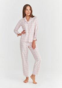 resm Sofia Maskulen Pijama Takımı - PEMBE