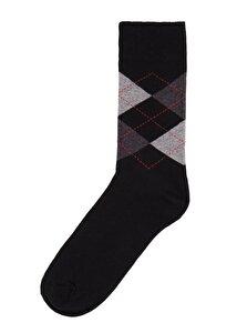 resm Erkek Oxford Soket Çorap - SİYAH