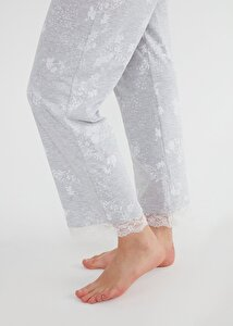 resm Griss Pijama Takımı - GRİ BASKILI