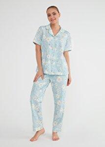 resm Bade Maskulen Pijama Takımı - MINT