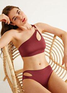 resm Yanı Detaylı Bikini Alt - BORDO