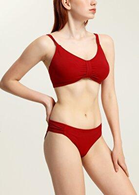 Resim Luplu Toparlayıcı Bikini Üst  - BORDO