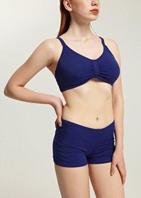 Resim Luplu Toparlayıcı Bikini Üst  - LACİVERT