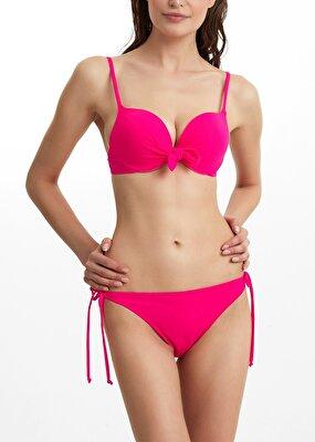 Resim İnce Bağcıklı Bikini Alt - ŞEKER PEMBESİ