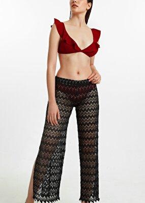 Resim Lacy Pantolon Pareo - SİYAH