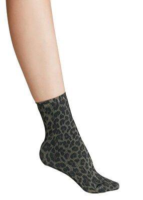 Resim Shinny Soket Çorap - LEOPAR DESENLİ