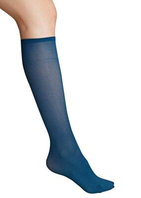 Resim Knee High Çorap - MAVİ