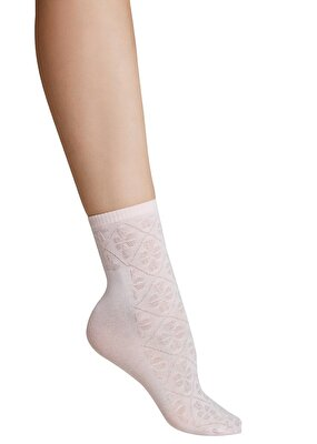 Resim Ajur Soket Çorap - AÇIK PEMBE