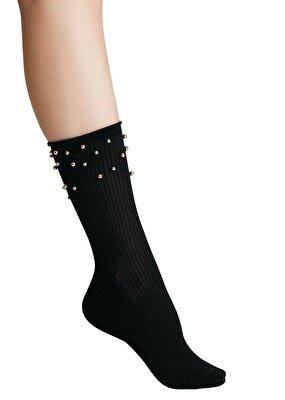Resim Pearl Soket Çorap - SİYAH