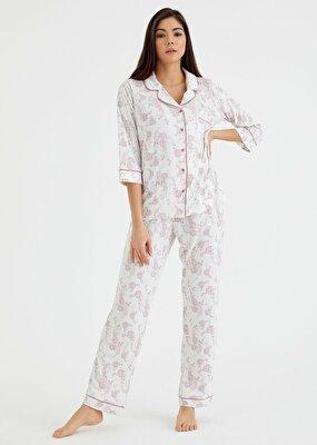 Resim Rosven Maskulen Pijama Takımı -