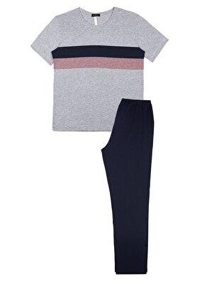 Resim Roberto Pijama Takımı - GRİLİ