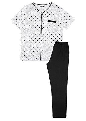 Resim Kruse Masculine Pyjamas Set - GRİLİ