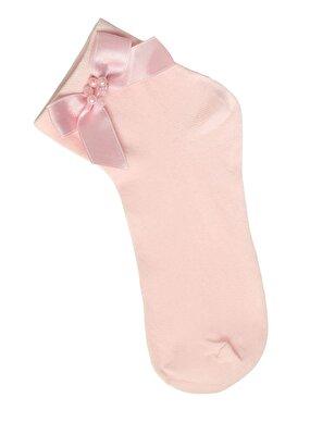 Resim Ribbon Soket Çorap  - PEMBE
