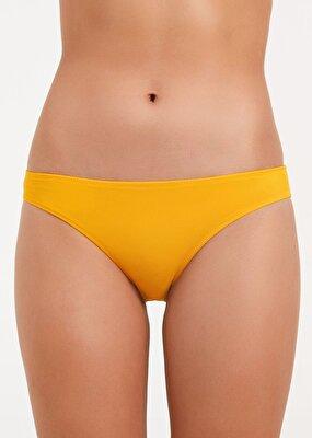 Resim Düz Bikini Alt - SARI