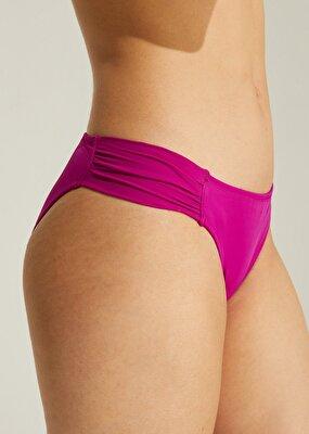 Resim Yanı Pileli Bikini Alt - SİKLAMEN