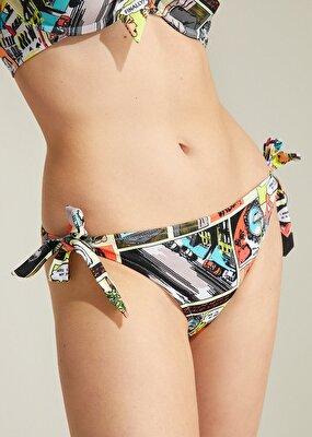 Resim Kalın Bağcıklı Bikini Alt - POP ART
