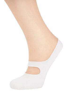 Resim Banded Çorap - EKRU