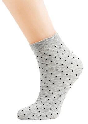 Resim Gray Dot Modal Çorap - GRİLİ
