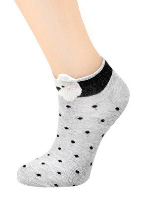 Resim Teddy Patik Çorap - PUANTİYELİ