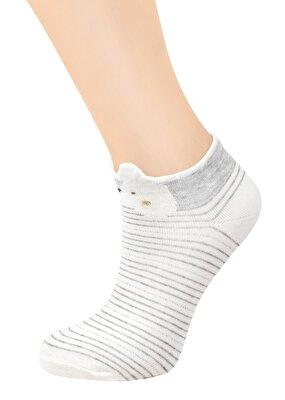 Resim Teddy Patik Çorap - ÇİZGİLİ