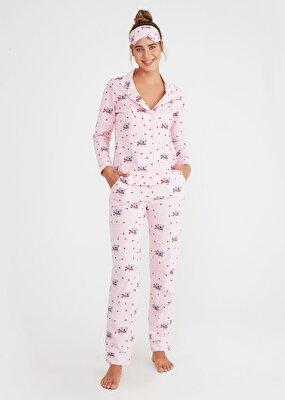 Resim Koalina Maskulen Pijama Takımı - PEMBE