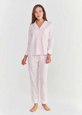 Resim Lily Maskulen Pijama Takımı - PEMBE