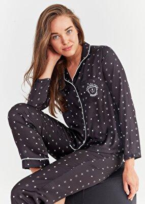 Resim New Elite Maskulen Pijama Takımı - SİYAH BASKILI