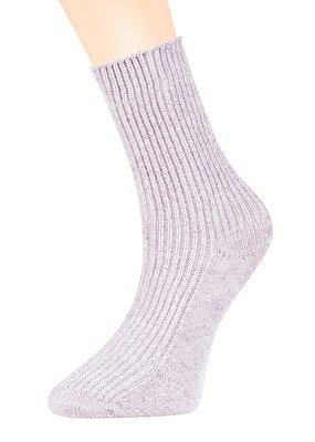 Resim Velvet Soket Çorap - GRİ