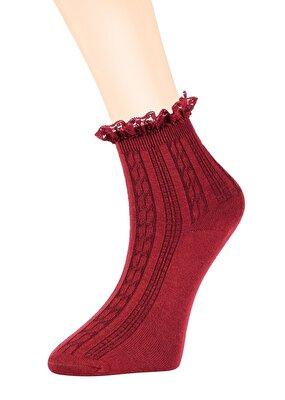 Resim Pretty Soket Çorap - BORDO
